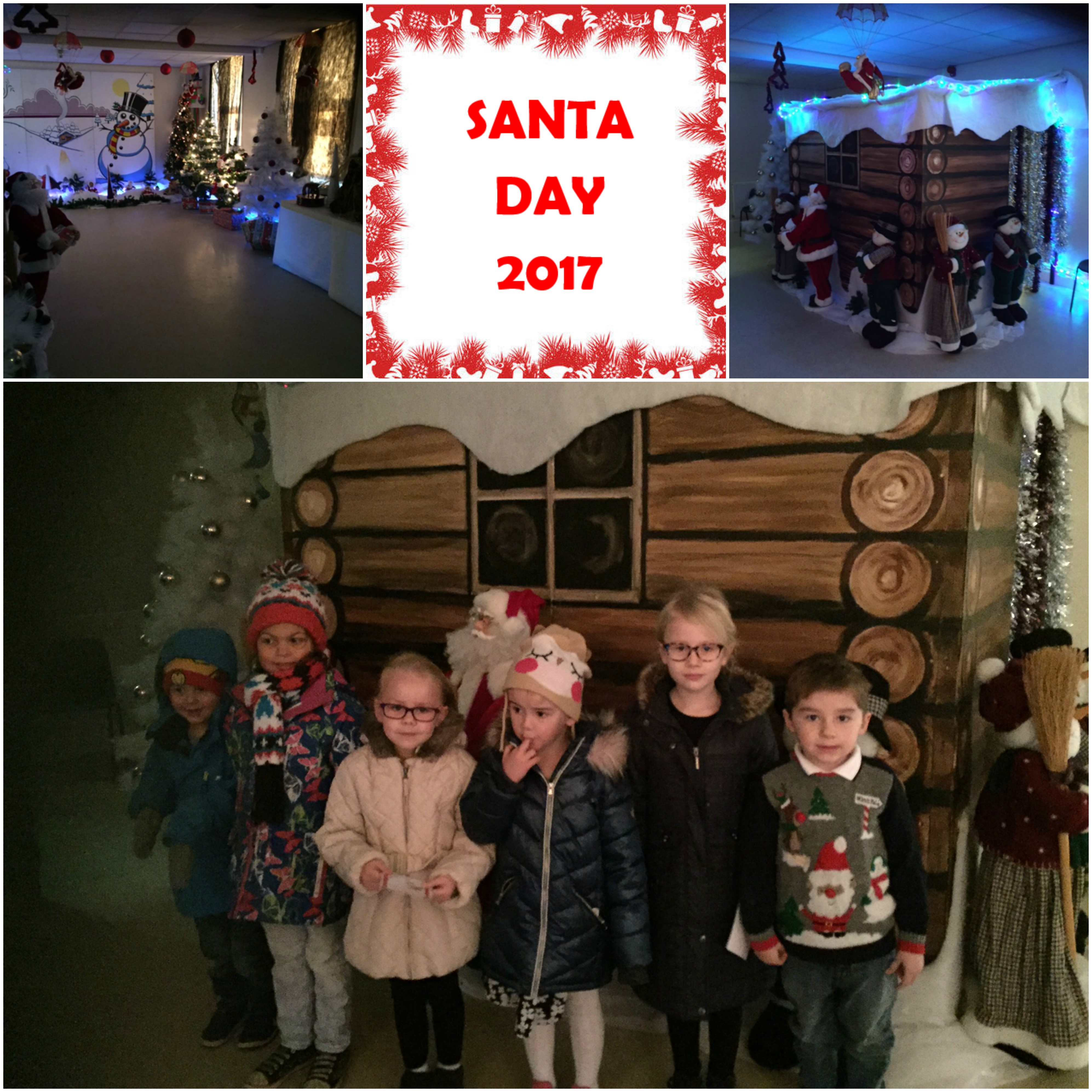 santa day 2017 collage